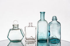 Vintage vials empty Stock Images