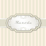 Vintage victorian background with label and copy space Royalty Free Stock Photos