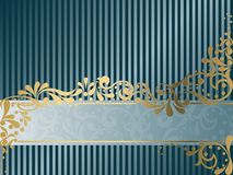 Vintage Victorian banner, horizontal Royalty Free Stock Images