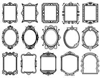Vintage victorian, baroque, rococo frame for mirror, menu, card design vector collection Royalty Free Stock Photo