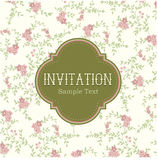 Vintage Floral Invitation Card Stock Photo