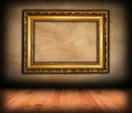 Vintage victorian frame on wall Stock Images