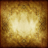 Vintage victorian grunge paper with floral ornament Royalty Free Stock Image