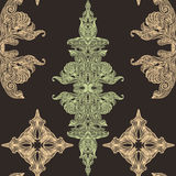 Vintage Victorian lace pastel seamless pattern Royalty Free Stock Photo
