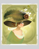 Vintage victorian lady Royalty Free Stock Image