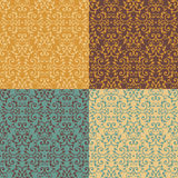 Vintage Victorian Pattern. Seamless vintage pattern in four fashion colorways. 6 tiles repeat Royalty Free Stock Photography