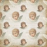Vintage Victorian Angels - Pastel Angel - Sheet Music - Patterned Digital Background Paper - Wrapping Paper Design. Vintage Victorian scrap angel pastel colors royalty free illustration