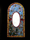 Vintage Victorian stained glass Stock Photo