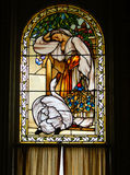 Vintage Victorian stained glass Stock Images
