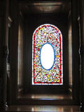 Vintage Victorian stained glass window Royalty Free Stock Photography