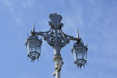 Vintage Victorian street lamp post in London, England Royalty Free Stock Photo
