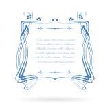 Vintage victorian text frame Stock Image