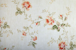 Vintage victorian wallpaper. With floral pattern Stock Photos