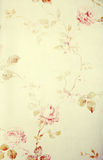Vintage victorian wallpaper with floral pattern. Vintage victorian wallpaper with pastel rose floral pattern, toned image, instagram effect Royalty Free Stock Photos
