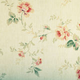 Vintage victorian wallpaper with floral pattern Royalty Free Stock Image