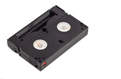 Vintage video casette on a white background Stock Photo