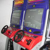 Vintage Video games. Sirolo, Italy - September 03, 2004: Video games arcade in Sirolo Stock Image