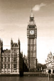 Vintage view of Big Ben Stock Images