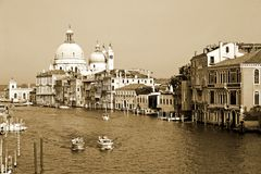 Vintage view of a canal in Venice, Italy Stock Images