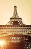 Vintage View of Eiffel Tower Royalty Free Stock Photography