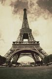 Vintage view of the Eiffel tower in Paris - France Stock Images