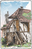 Vintage View of Fable House. Detailed Illustration of a Vintage View of Fable House This illustration is saved in EPS10 with color space in RGB royalty free illustration