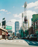 Vintage View of Landsdowne Street, Boston, MA. Stock Photos