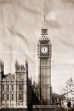 Vintage view of London. Big Ben Stock Image