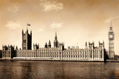 Vintage view of London, England. Royalty Free Stock Image