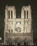 Vintage view of  Notre dame de Paris - France Stock Photo