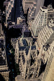 Vintage 1972 view of St. Patricks Cathedral, Manhattan, NYC. Royalty Free Stock Images