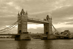 Vintage view of Tower Bridge Royalty Free Stock Photography