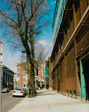 Vintage View of Yawkey Way, Boston, MA. Royalty Free Stock Images