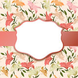 Vintage vignette on a floral background Royalty Free Stock Image