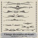 Vintage vignettes. Vintage vignettes for decoration document Royalty Free Stock Image