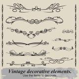 Vintage vignettes. Vintage vignettes for decoration document Stock Images