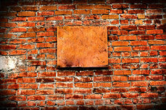 Vintage Wall With Empty Board Royalty Free Stock Photos