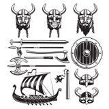 Vintage Viking Elements Set Royalty Free Stock Photo