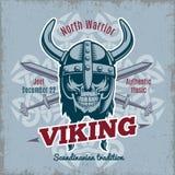 Vintage Viking Poster Royalty Free Stock Photography