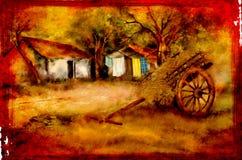 Vintage village landscape. This is a vintage village landscape Royalty Free Stock Image