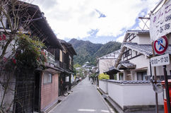 Vintage village at miyajima, japan Royalty Free Stock Photo