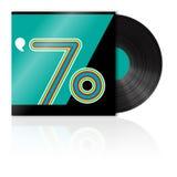 Vintage vinyl 70's. Illustration vintage vinyl 70's style Royalty Free Stock Photos
