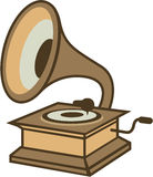 Vintage vinyl player vector Stock Images