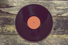Vintage Vinyl Record Stock Photo