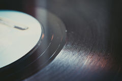 Vintage vinyl record groove close up Royalty Free Stock Photo