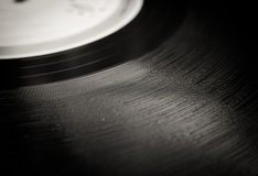 Vintage vinyl record groove close up Royalty Free Stock Image