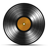Vintage vinyl record isolated on white background Stock Photography