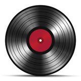 Vintage vinyl record isolated on white background Royalty Free Stock Photos