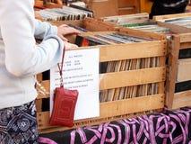 Vintage Vinyl Record Shopping Stock Photo