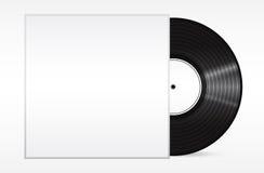 Vintage vinyl record in sleeve over white. . Eps 10  illustration Royalty Free Stock Photo